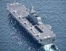 Tàu chiến lớn nhất của Nhật Bản phô diễn sức mạnh chung với Hải quân Mỹ