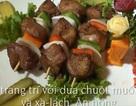 Thịt nướng rau củ thơm lừng trong ngày mưa lạnh