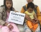 Trao tiền nhân ái đến cô bé dân tộc Ca Dong bị bỏng nước cơm