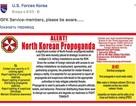 Quân đội Mỹ náo loạn vì tờ rơi Triều Tiên