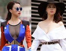 Người đẹp Trương Tùng Lan sexy dạo phố với áo xẻ sâu ngực