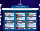 Lịch thi đấu của U20 Việt Nam tại World Cup 2017