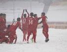 Choáng với mặt sân phủ đầy tuyết ở trận U23 Việt Nam - U23 Uzbekistan