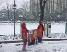 Tuyết phủ trắng sân Thường Châu trước trận chung kết U23 châu Á