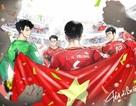 Loạt tranh chibi đáng yêu dành tặng tuyển U23 Việt Nam