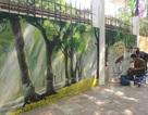 Ngỡ ngàng phố bích họa tái hiện Hà Nội xưa trên phố Phan Đình Phùng