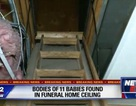 Phát hiện xác chết phân hủy của 11 đứa trẻ giấu trên trần nhà tang lễ