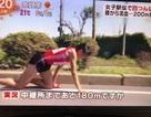 Khâm phục VĐV Nhật Bản bò tới vạch đích với đầu gối rớm máu