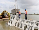 Dựng thành công kè phá sóng bảo vệ bờ biển Cà Mau