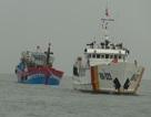 Ứng cứu thành công tàu cá cùng 19 ngư dân gặp nạn trên biển