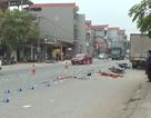Tránh ô tô đang đỗ, 2 người đi xe máy bị xe tải chèn tử vong
