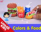 Tiếng Anh trẻ em: Bé học về màu sắc và đồ ăn qua đất nặn ma thuật