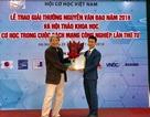 TS Vũ Văn Trường nhận Giải thưởng Tài năng cơ học Nguyễn Văn Đạo