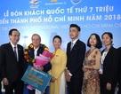 Thành phố Hồ Chí Minh đón khách quốc tế thứ 7 triệu