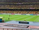 Sân Bukit Jalil mưa như trút nước trước trận chung kết lượt đi AFF Cup 2018