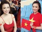 """""""Hot girl giảng viên"""" gây chú ý khi ra sân cổ vũ ĐT Việt Nam"""