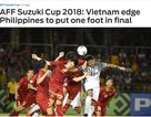"""Báo châu Á: """"Việt Nam đặt một chân vào chung kết AFF Cup 2018"""""""