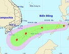 Sáng nay áp thấp nhiệt đới khả năng thành bão sẽ vào Biển Đông
