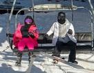 Kim Kardashian đi trượt tuyết cùng gia đình