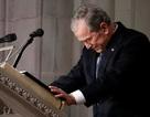 Cựu Tổng thống Bush bật khóc trong lễ tang của cha