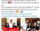 Ngôi sao Philippines tặng vé trận gặp Việt Nam cho cổ động viên