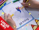 Tiếng Anh trẻ em: Học tiếng Anh về màu sắc và đồ ăn qua tô màu sáng tạo