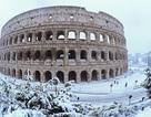 Thành Rome bất ngờ phủ tuyết bất thường khiến du lịch ngưng trệ