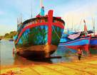 Thuê thợ máy vượt biển sửa tàu cá đang thả trôi