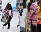 Dương Mịch bị bắt gặp gà gật tại sân bay