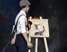 Nam sinh trường Sân khấu Điện ảnh dùng lửa vẽ tranh