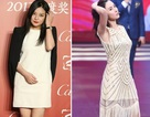 Triệu Vy lộ hai cằm, Trương Bá Chi làm người mẫu thời trang