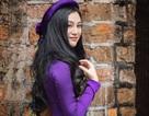 Hoa hậu Trần Huyền Nhung ngọt dịu dàng sắc tím trong lòng phố cổ Hà Nội