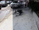 Chạy ngược chiều bị CSGT xử phạt, nam thanh niên đốt xe máy