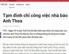 Công an điều tra vụ nhà báo Anh Thoa bị tố xâm hại tình dục