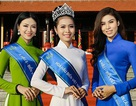 Top 3 Hoa hậu Biển Việt Nam giản dị với áo dài dâng hương Giỗ Tổ Hùng Vương