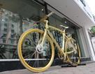 """Cận cảnh xe đạp dát vàng """"cực độc"""" giá bạc tỷ của đại gia Hà Nội"""