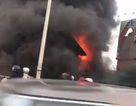 Cháy lớn gần chân cầu Vĩnh Tuy, một cụ già tử vong