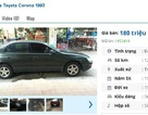 Những chiếc ô tô Toyota cũ này đang rao bán tầm giá 100 triệu đồng tại Việt Nam
