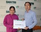 Hơn 39 triệu đồng tiếp tục đến với gia đình chị Đoàn Thị Chanh