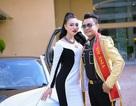 Nam Vương Huy Hoàng đón Nữ Hoàng Trần Huyền Nhung đi Event của Ngọc Tình bằng siêu xe