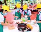 Học sinh tiểu học ở TPHCM thi nấu ăn