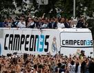 Biển người chào đón Real Madrid sau chức vô địch Champions League