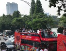 Xe buýt 2 tầng mui trần chính thức chạy quanh phố cổ Hà Nội