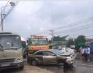 Xe cứu hộ mất lái gây tai nạn liên hoàn