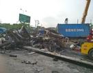 Xe container bốc cháy dữ dội  sau cú đâm va, 2 vợ chồng chết thảm