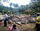 Ba cha con kịp chạy thoát trước khi lửa thiêu rụi cả ngôi nhà
