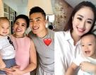 Hoa hậu Thu Ngân khoe con trai; Quốc Cơ hạnh phúc bên vợ con