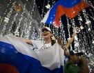 Cổ động viên Nga tràn ra đường mừng đội nhà thắng Ai Cập