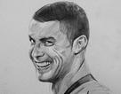 """Họa sĩ 9x chỉ mất 15 phút để vẽ tranh chân dung Ronaldo gây """"sốt"""""""