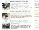 Nhiều ô tô cũ của Nhật được rao bán với giá hơn 200 triệu đồng